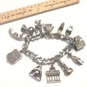 JB Silver Charm Bracelet